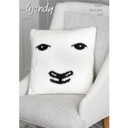 TRW6093 Sheep Cushion in Wendy With Wool DK