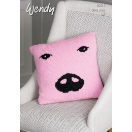TRW6094 Pig Cushion in Wendy With Wool DK