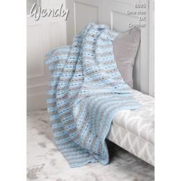 TRW6095 Crochet Throw in Wendy With Wool DK