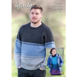 TRW6099 Oversized Sweater for Men & Women in Wendy With Wool DK