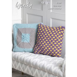 TRW6109 Cushions & Doorstop in Wendy With Wool Super Chunky
