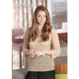 TRW6113 Women's Crochet Tunic in Wendy Supreme Cotton 4Ply