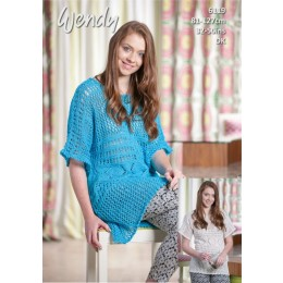 TRW6119 Ladies Tunic in Wendy Supreme Cotton DK