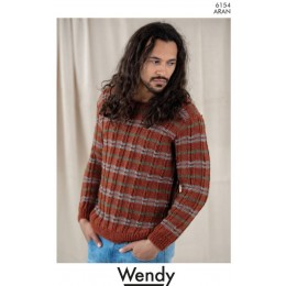 TRW6154 Patterned Unisex Sweater in Wendy Aran with Wool