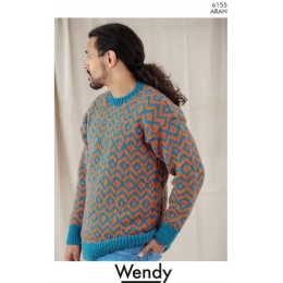 TRW6155 Fair Isle Sweater for Men & Women in Wendy Aran with Wool
