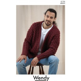 TRW6156 Unisex Cable Cardigan in Wendy Aran with Wool