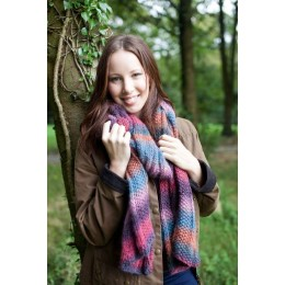 WYS Aire Valley Fusions Autumn Mix Scarf