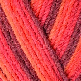 West Yorkshire Spinners Aire Valley Aran 100g Red Stripe 857