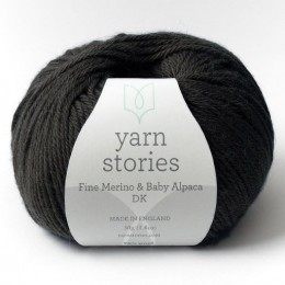 Yarn Stories Fine Merino & Baby Alpaca DK 50g Anthracite 2500