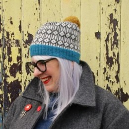 Baa Ram Ewe Brooklime Hat in Pip Colourwork