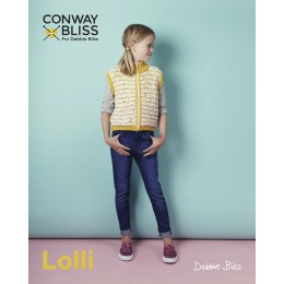 CB019 Children's Cardigan in Conway and Bliss Lolli