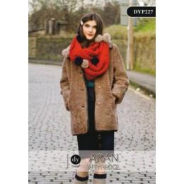 DYP227 Ladies Infinity Scarf Aran with Wool