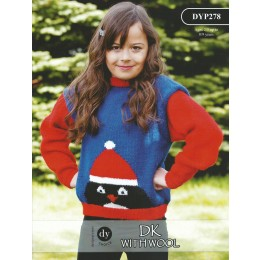 DYP278 Children's Christmas Jumper DK with Wool