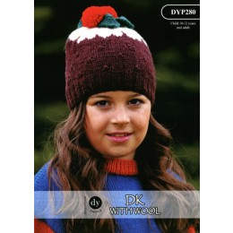 DYP280 Adult/Children's Christmas Hat DK with Wool