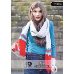 DYP228 Ladies Scarf DK with Wool