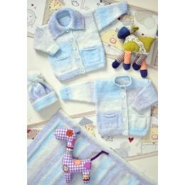 JB010 Baby Cardigan, Hat and Blanket DK