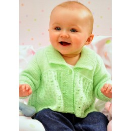 JB36 Baby Cardigans, Hat and Scarf DK