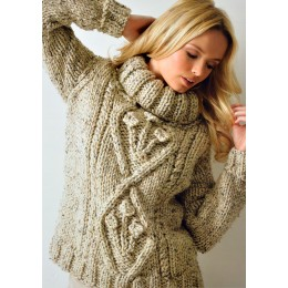 JB111 Ladies Cable Jumper Chunky