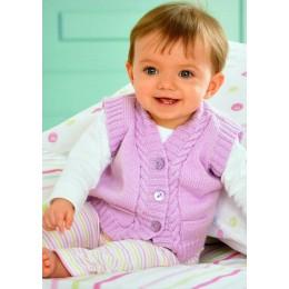 JB124 Baby Waistcoats and Sleeveless Tops 4ply