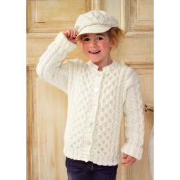 JB154 Children's Cable Cardigan Chunky