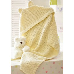 JB174 Baby Hooded Blanket Chunky