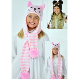 JB196 Children's Animal Hats DK
