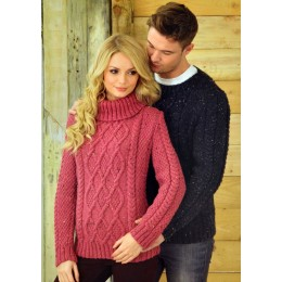 JB211 Adults Cable Jumpers Aran