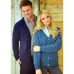 JB212 Adults Cable Cardigans Aran