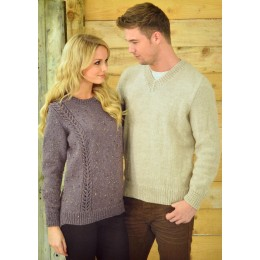 JB213 Adults Cable Jumpers Aran