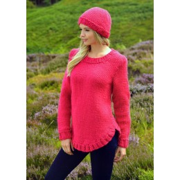 JB218 Ladies Jumper and Hat Chunky