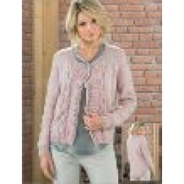 JB221 Ladies Cable and Lace Cardigan Aran