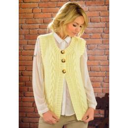 JB225 Ladies Cable Waistcoat Aran