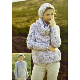 JB273 Ladies Jumper, Scarf and Hat Chunky