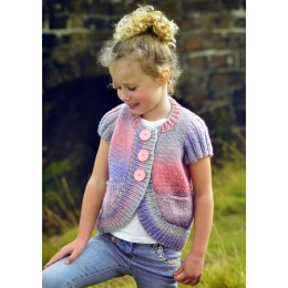 JB281 Children's Short Sleeved Cardigan Chunky