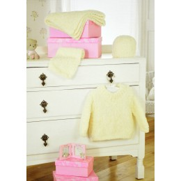 JB297 Baby Jumper, Scarf, Hat and Blanket Chunky