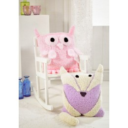 JB305 Animal Cushions Fluffy Chunky