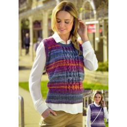 JB311 Ladies Cable Top Woodlander DK