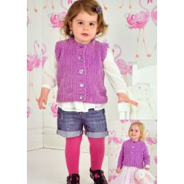 JB317 Children's Cardigan and Waistcoat Flutterby Chunky