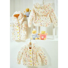 JB318 Baby Cardigans Confetti Chunky