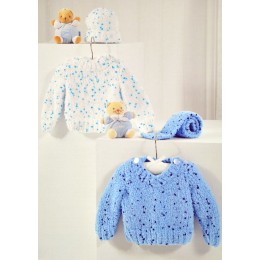 JB319 Baby Jumpers, Hat and Scarf Confetti Chunky