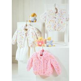JB320 Baby Cardigans Confetti Chunky