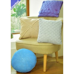 JB330 Crochet and Knitted Cushions Noodles Chunky