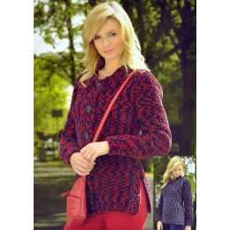 JB334 Ladies Cardigan and Jumper Animal Print Super Chunky