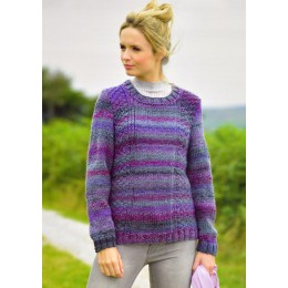 JB336 Ladies Jumper Marble Chunky