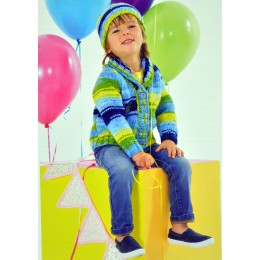 JB342 Children's Cardigans and Hat Party Time Chunky
