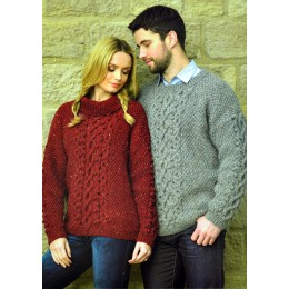 JB363 Adults Cable Jumpers Aran