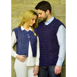JB364 Adults Cable Waistcoat and Slipover Aran