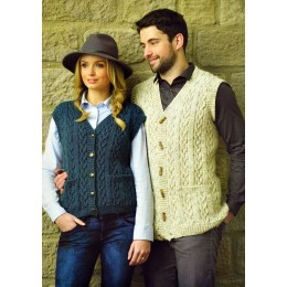 JB366 Adults Cable Waistcoats Aran