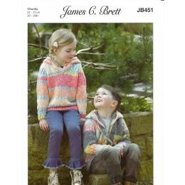 JB451 Hoodies for Children in James C Brett Harmony Chunky