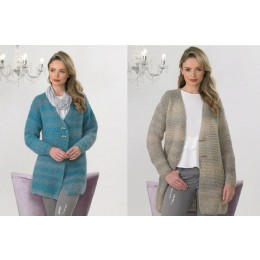 JB562 Woman's Jacket in James C Brett Marble Chunky Glamour